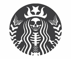 starbucks, Halloween, and black image
