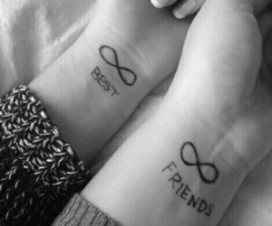 best friends, forever, and tattoo image
