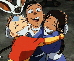 avatar, momo, and aang image