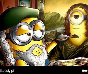 minions and mona lisa image