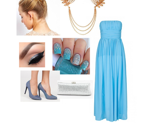 blue, Collage, and fashion image