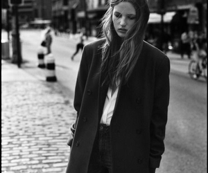black and white, friends, and coat image