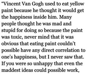 quote, van gogh, and vincent van gogh image