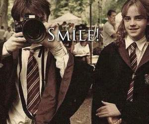 harry potter, daniel radcliffe, and hermione granger image