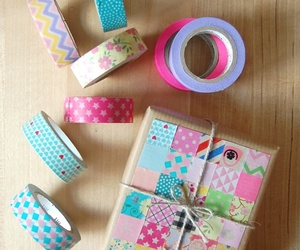 diy, packaging, and patchwork image