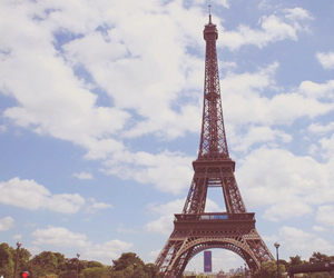 beautiful, eiffel tower, and nature image