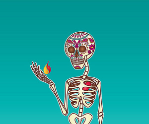 adobe illustrator, candy skull, and decorated image