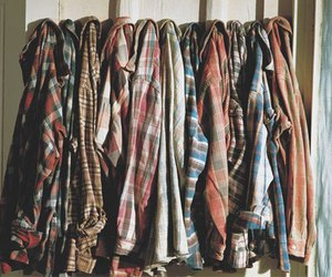 clothes, shirt, and flannel image