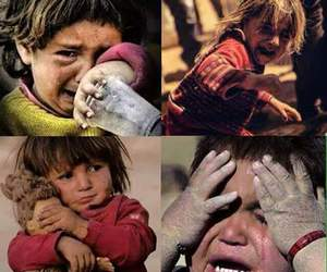 child, crying, and syria image