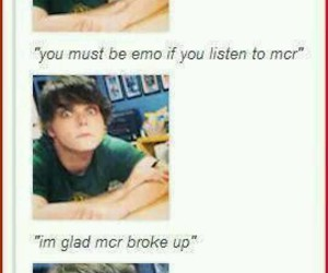 mcr, my chemical romance, and funny image