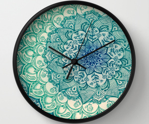 blue, clock, and emerald image