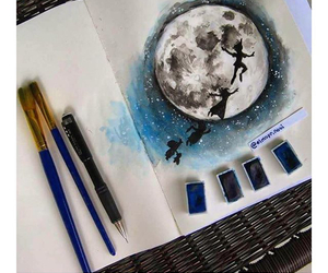 draw, peter pan, and lune image