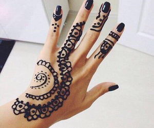henna, black, and nails image