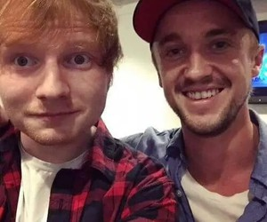 ed sheeran and tom felton image