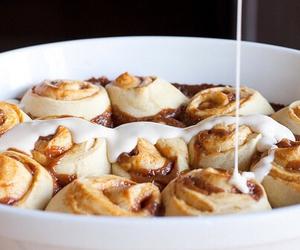 food, cinnamon roll, and yummy image