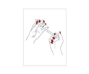 best friend, hand, and red nails image