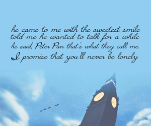 disney, neverland, and quote image
