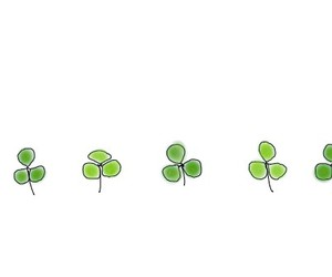 clover, drawing, and green image