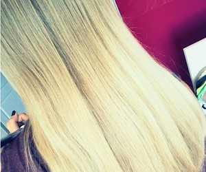 blond, hair, and long image