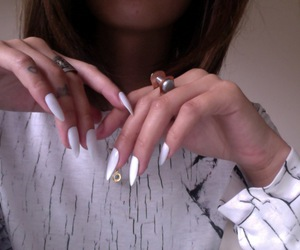 nails, pale, and white image