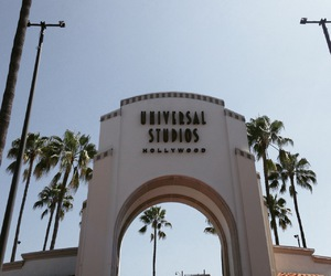 california, universal studios, and hollywood image