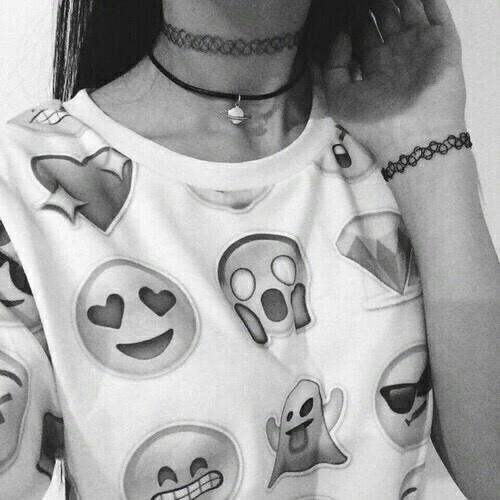 emoji, emojis, and black and white image