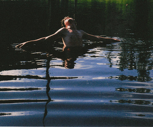 water and boy image