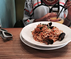 dinner, pasta, and main course image