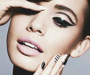 beauty, editorial, and lipstick image