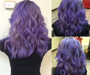 dyed hair, lavender, and lilac image