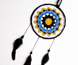 nursery decor, crochet mandala, and hanging dream catcher image