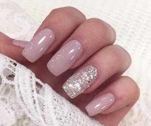 nails, girly, and glitter image