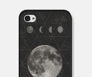 black, case, and moon image