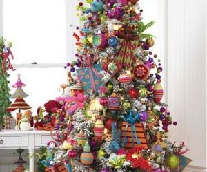 colorful and tree christmas image