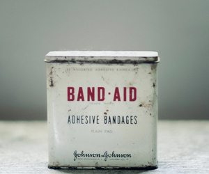 bandages, can, and first aid image