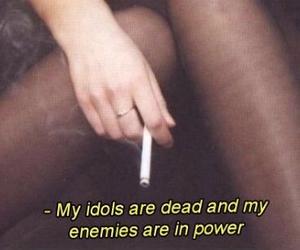 cigarette, dead, and enemies image
