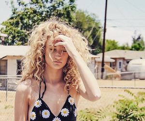blonde, curls, and outfit image