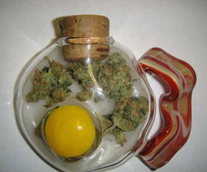 weed, eggs, and pot image