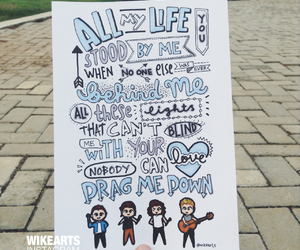 drag me down, one direction, and art image