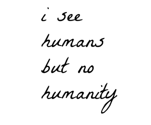 humanity and qoute image