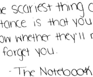 quote, the notebook, and distance image