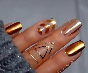 nails, gold, and art image