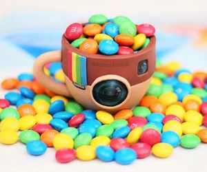 colorful, instagram, and m&m image