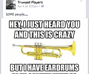 band, marching band, and trumpet image