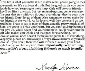 Marilyn Monroe, quote, and life image