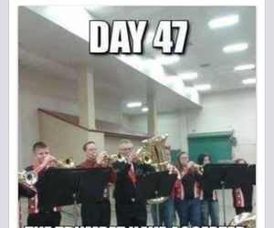 band, funny, and marching band image