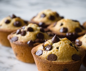 chocolate, dessert, and muffin image