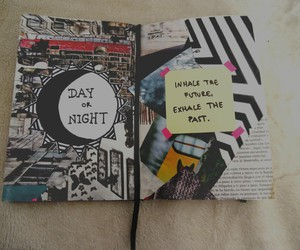 book, Collage, and diary image