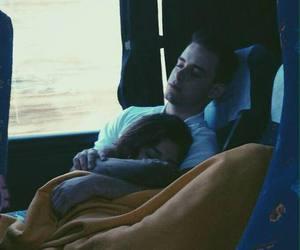 love, couple, and sleep image