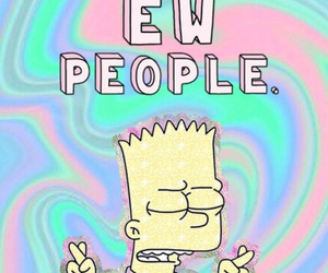 wallpaper, bart, and people image